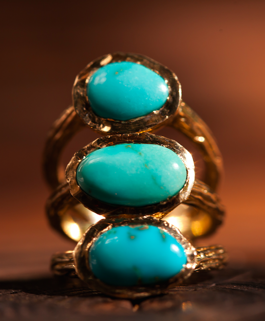 Sleeping Beauty and Bisbee 3 Turquoise Ring