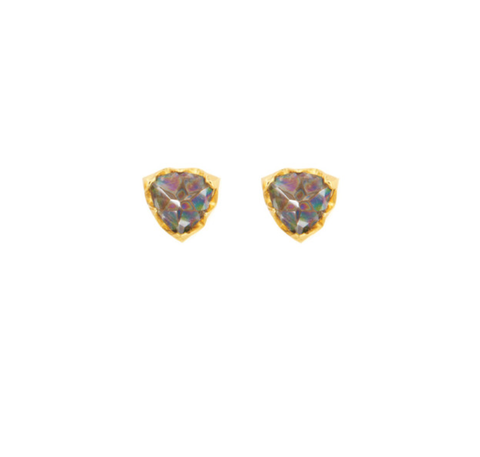 Papa Inverted Rainbow Topaz Trillion Earrings