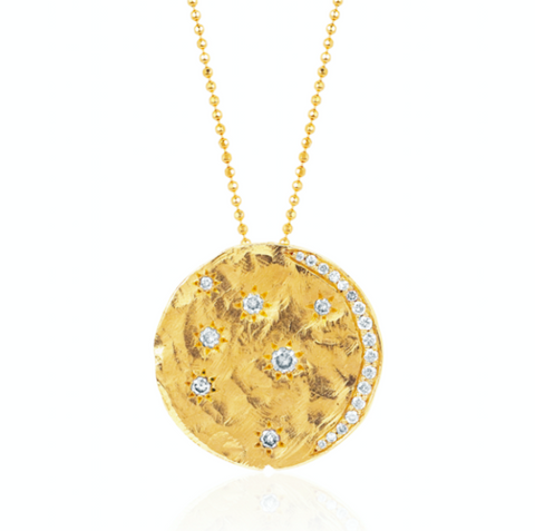 NEW! 18k Starry Night Coin Necklace