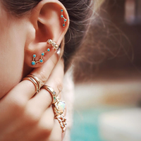Ursa Major Turquoise Split Studs  custom earrings