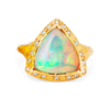 NEW! One of a Kind Cosmic Trillion Opal with Diamonds