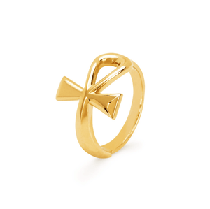 NEW! Solid Gold Eternal Ankh Ring