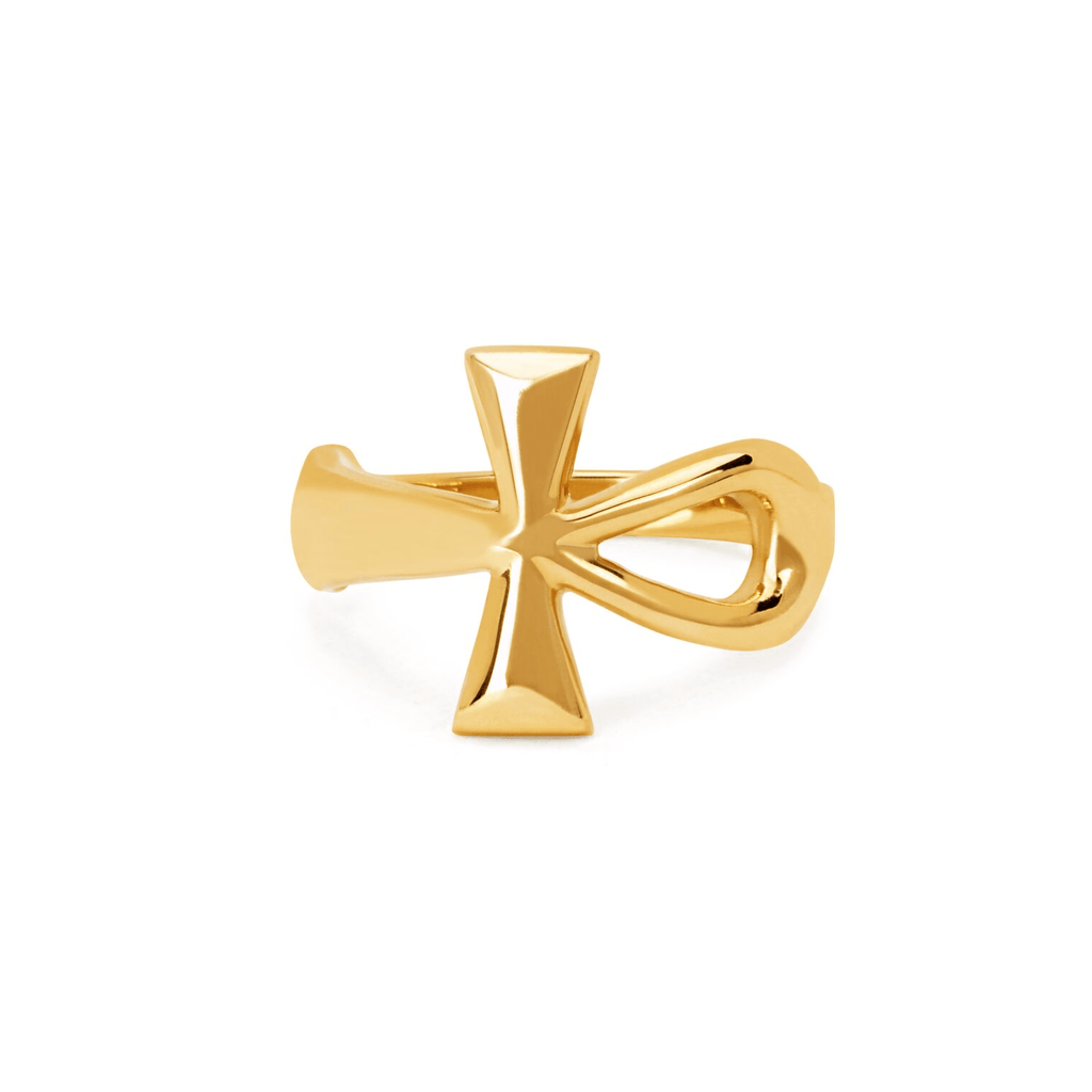 Solid Gold Eternal Ankh Ring Solid Gold Eternal Ankh Ring