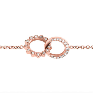 Pavé Diamond Interlocking Unity Bracelet