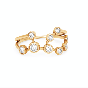 Virgo Diamond Constellation Ring