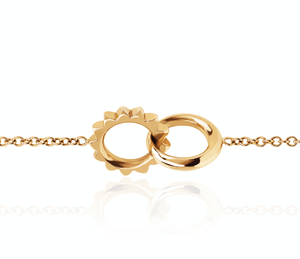 Interlocking Unity Solid Gold Bracelet