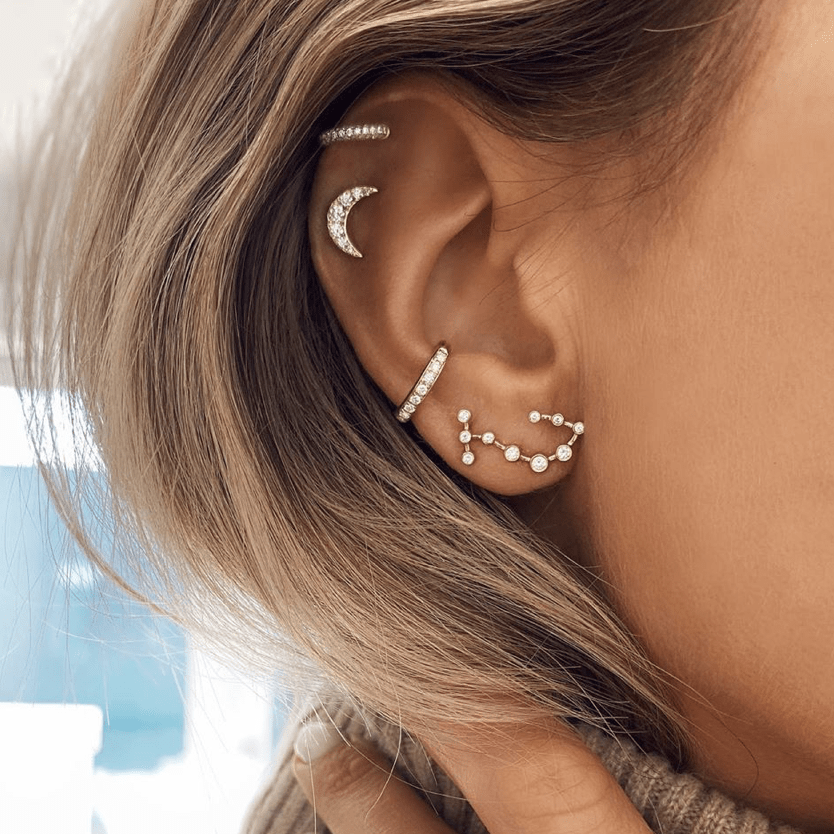 Scorpio Diamond Constellation Studs