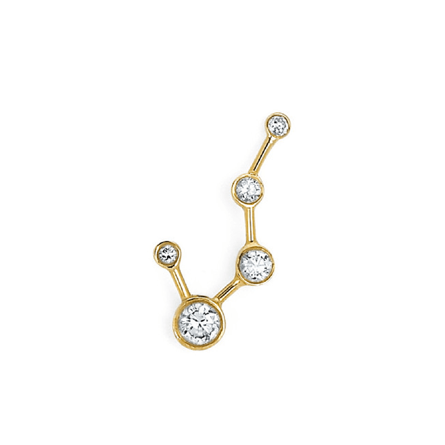 Big Dipper Constellation White Sapphire Earrings