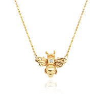 NEW! Logan Hollowell x BKN Honey Bee Necklace with Single Diamond NEW! Logan Hollowell x BKN Honey Bee Necklace with Single Diamond
