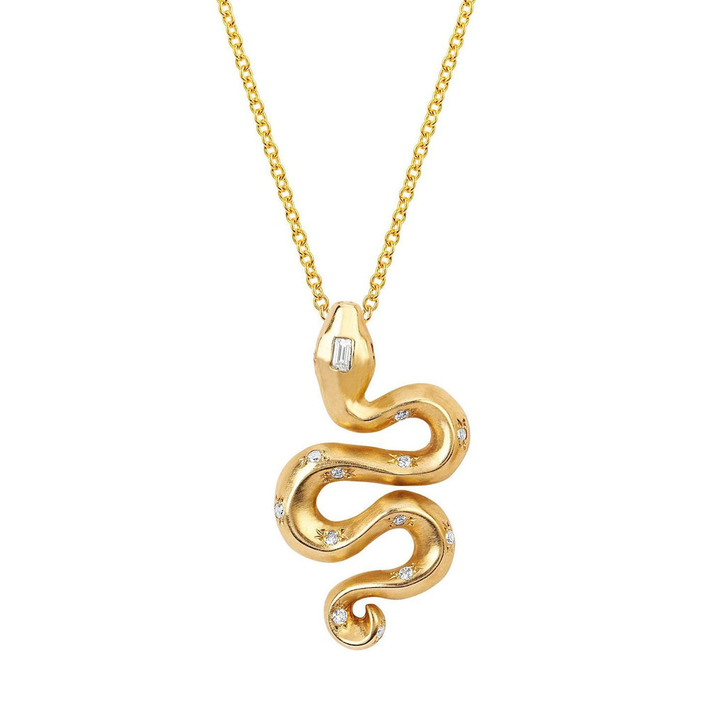 Large Kundalini Snake Pendant with Sprinkled Diamonds Large Kundalini Snake Pendant with Sprinkled Diamonds
