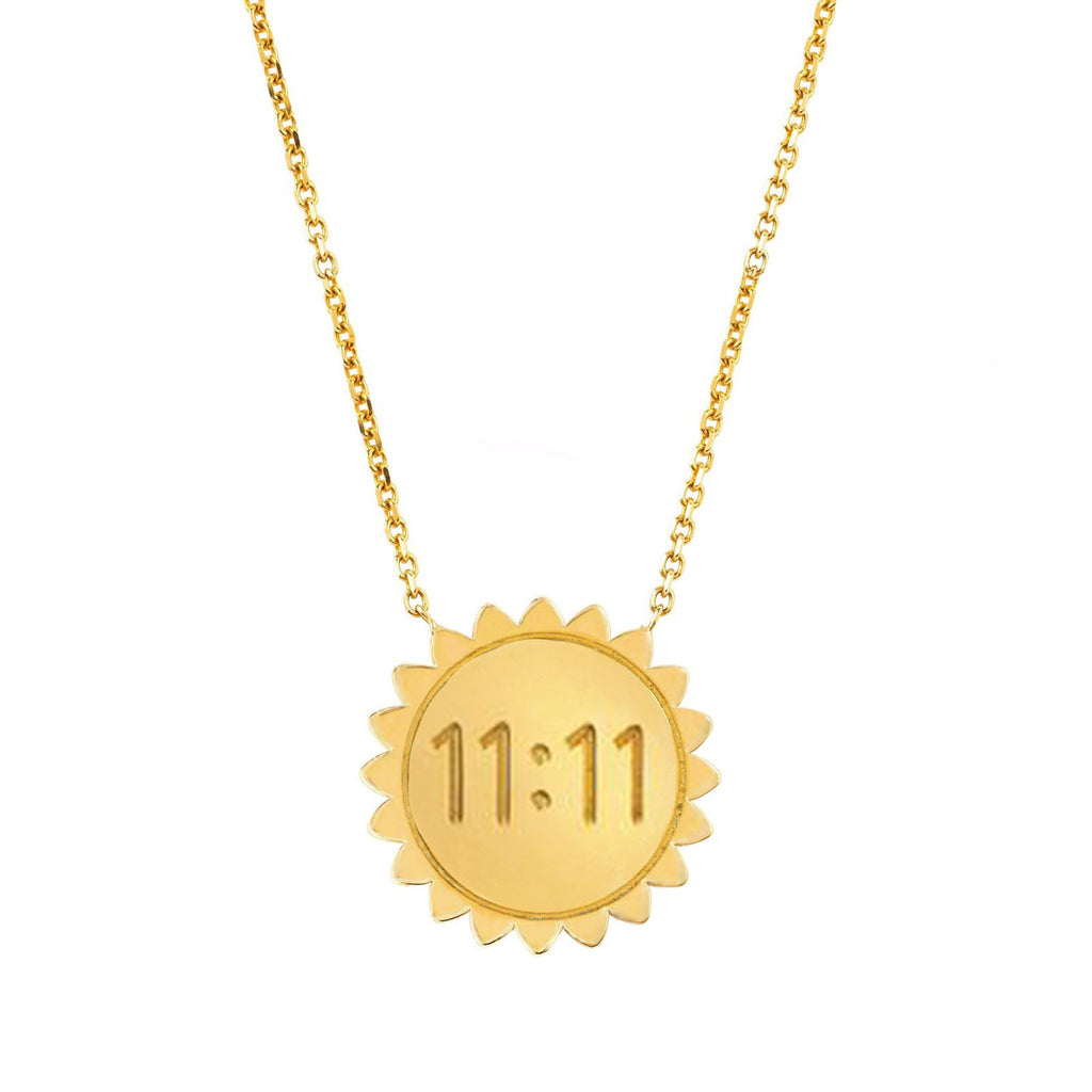 Medium 11:11 Sunshine Necklace SOLID Yellow Gold