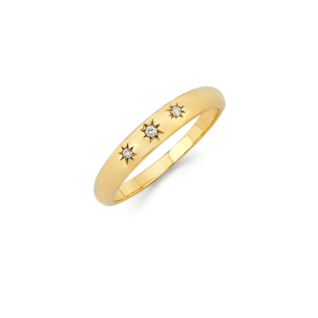 Baby Star Set Rounded Ring