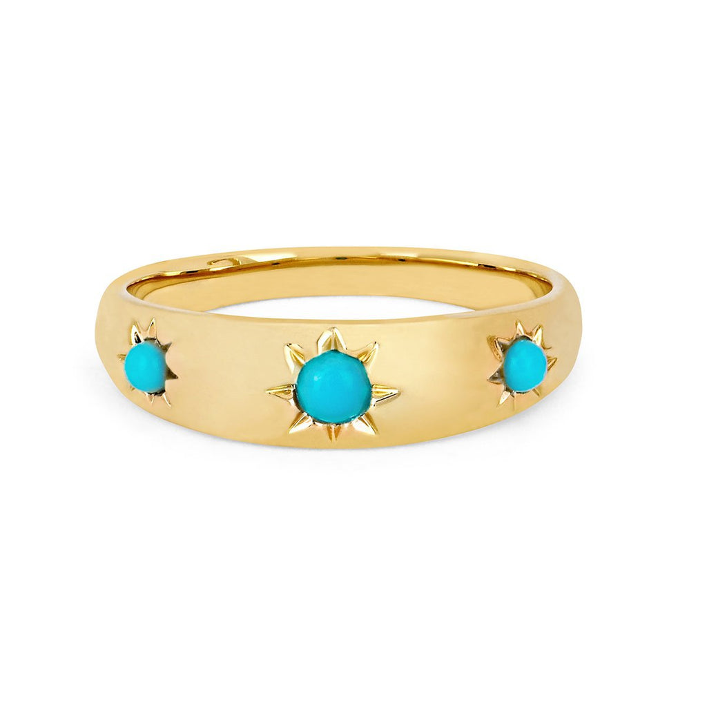 NEW! Star Set Turquoise Rounded Ring NEW! Star Set Turquoise Rounded Ring