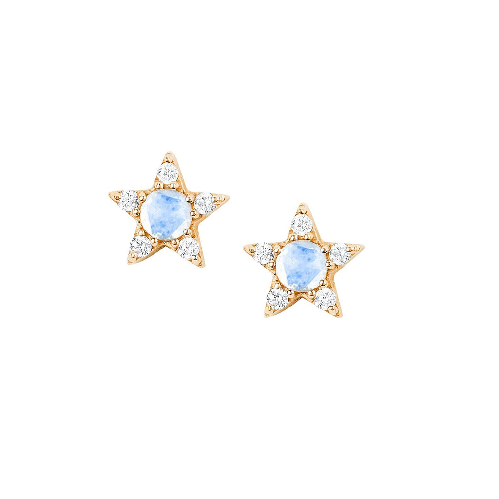NEW! Moonstone Star Studs NEW! Moonstone Star Studs