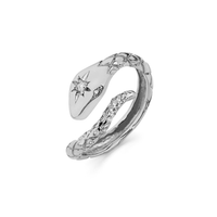Kundalini Diamond Snake Ring White Gold