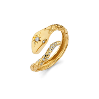 Kundalini Diamond Snake Ring Yellow Gold