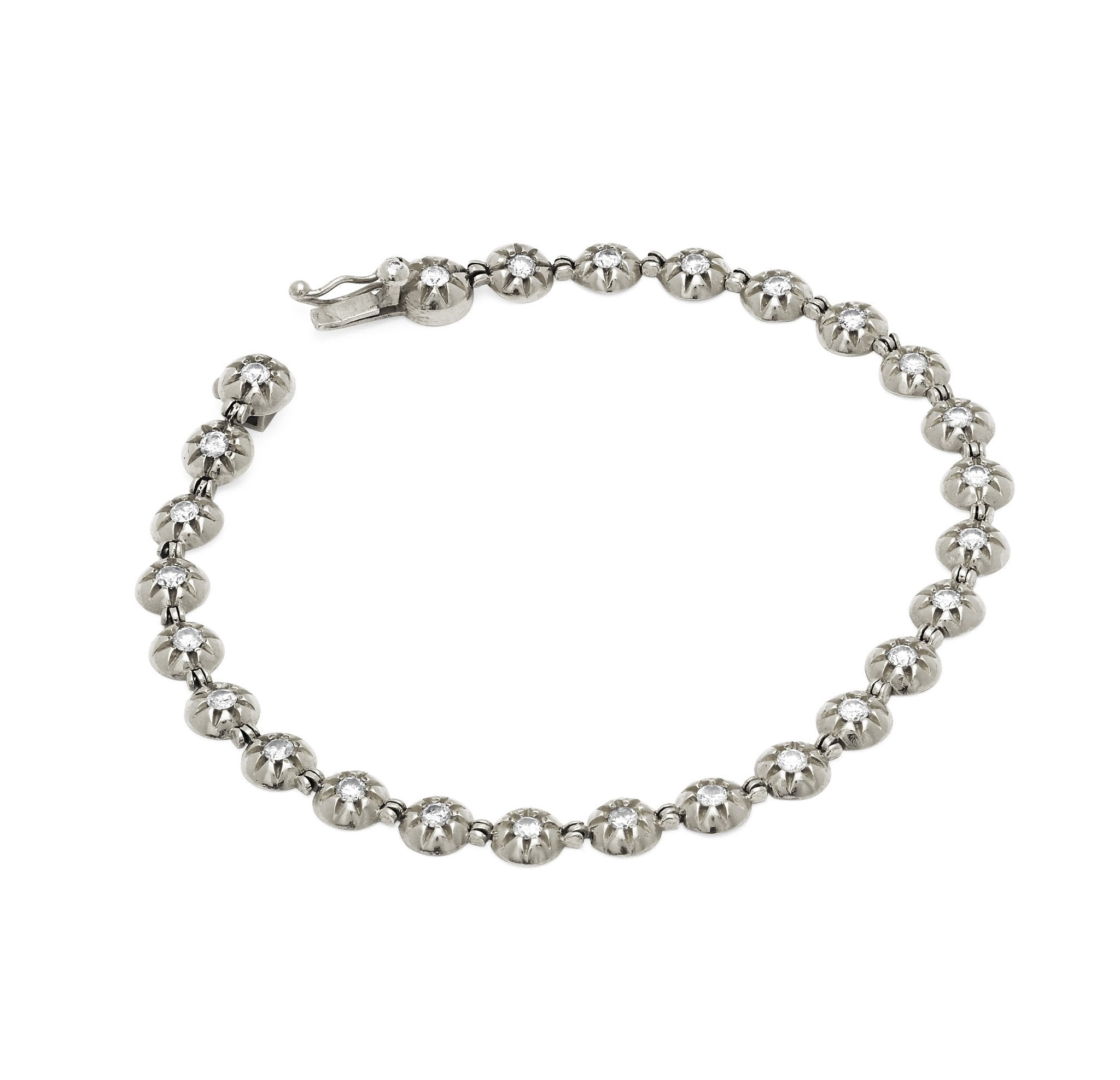 Star Set Diamond Tennis Bracelet