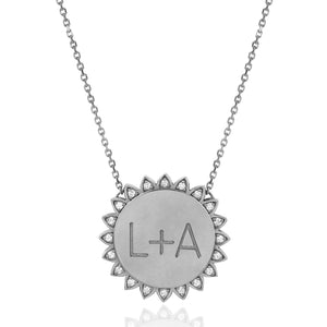 "Custom Classic ""You Are My Sunshine"" Necklace with Diamonds"