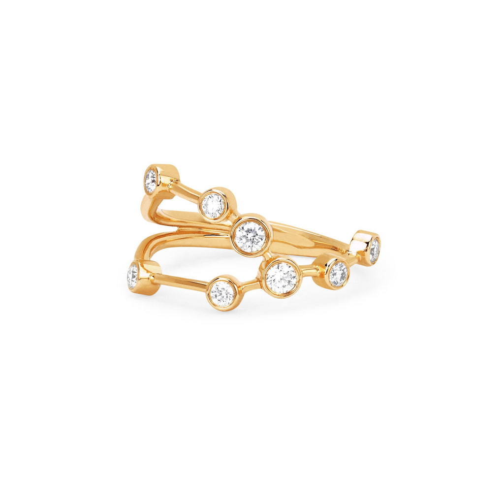 Taurus Constellation Ring Yellow Gold