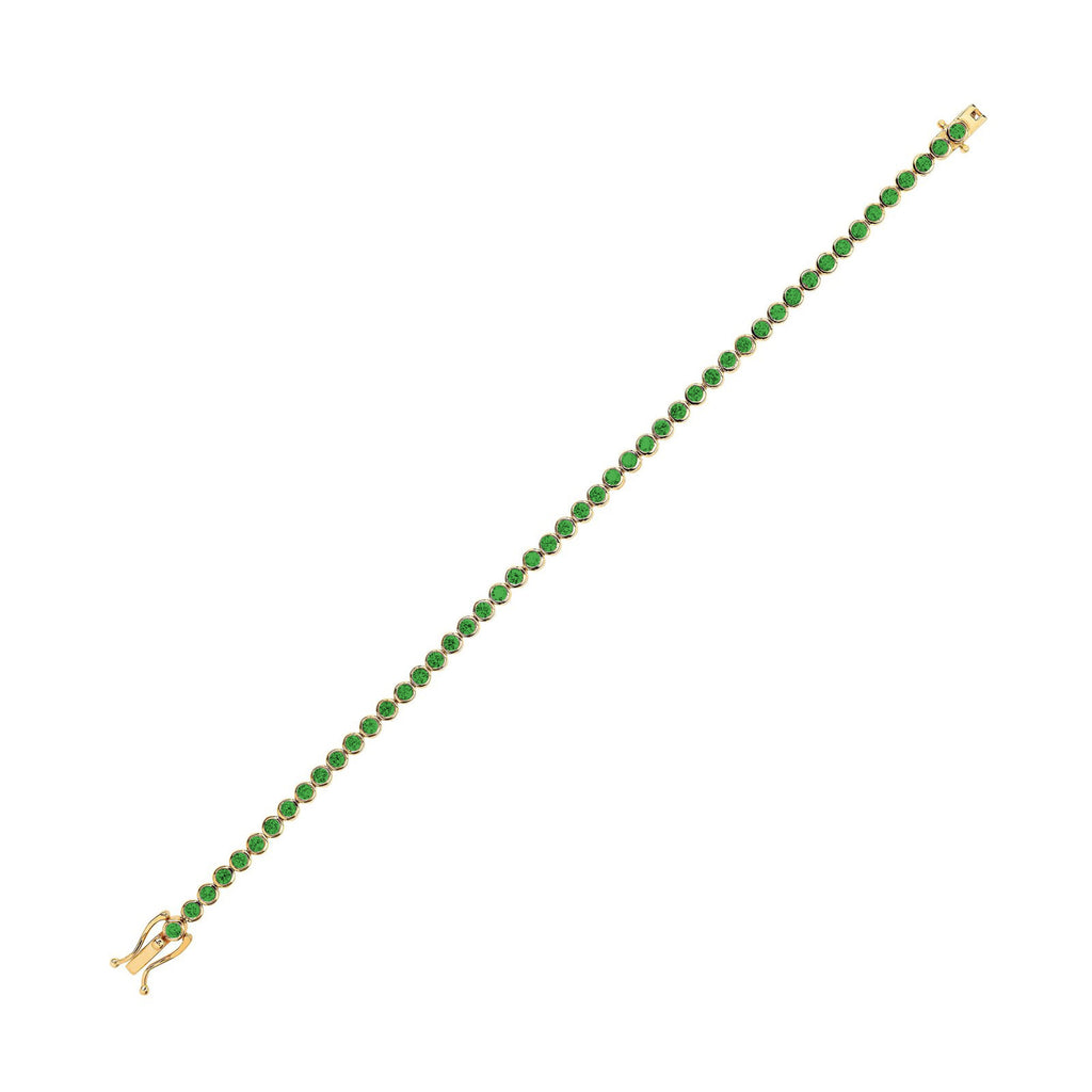 Infinity Orbit Emerald Tennis Bracelet Infinity Orbit Emerald Tennis Bracelet
