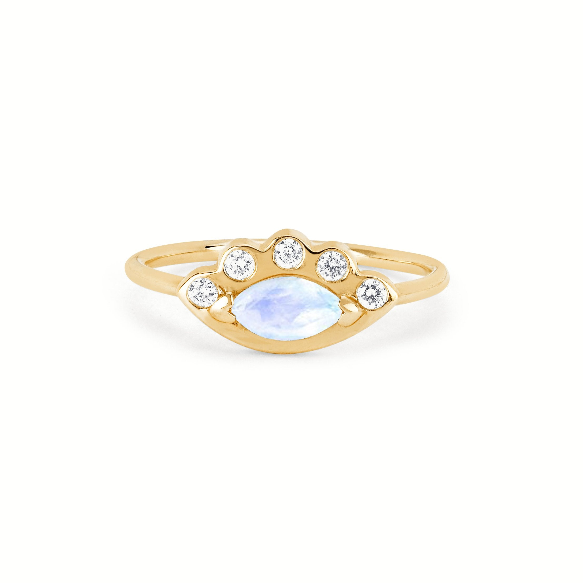 Moonstone Angel Eye Ring