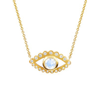 Third Eye Moonstone and Diamond Necklace Third Eye Moonstone and Diamond Necklace