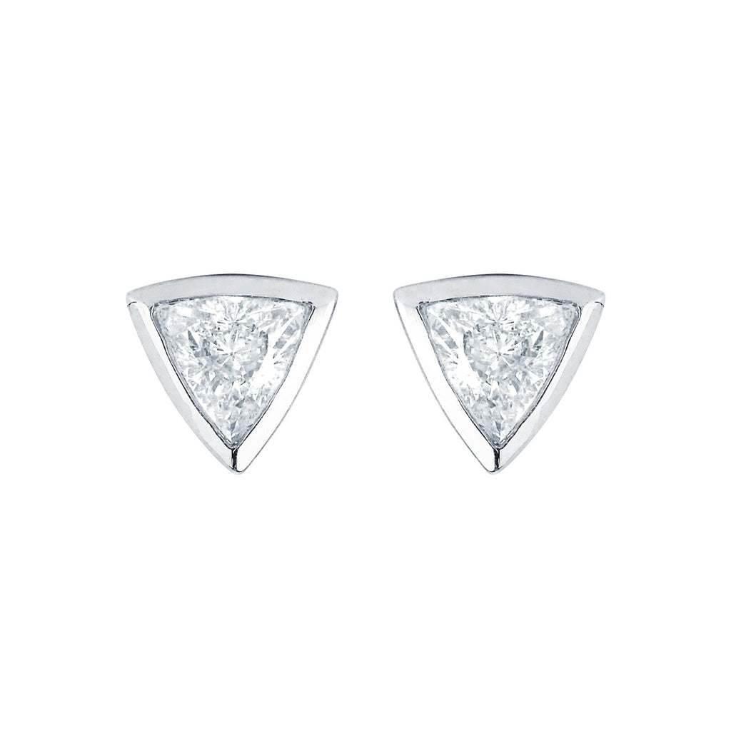 Papa Trillion Stud Earring White Gold
