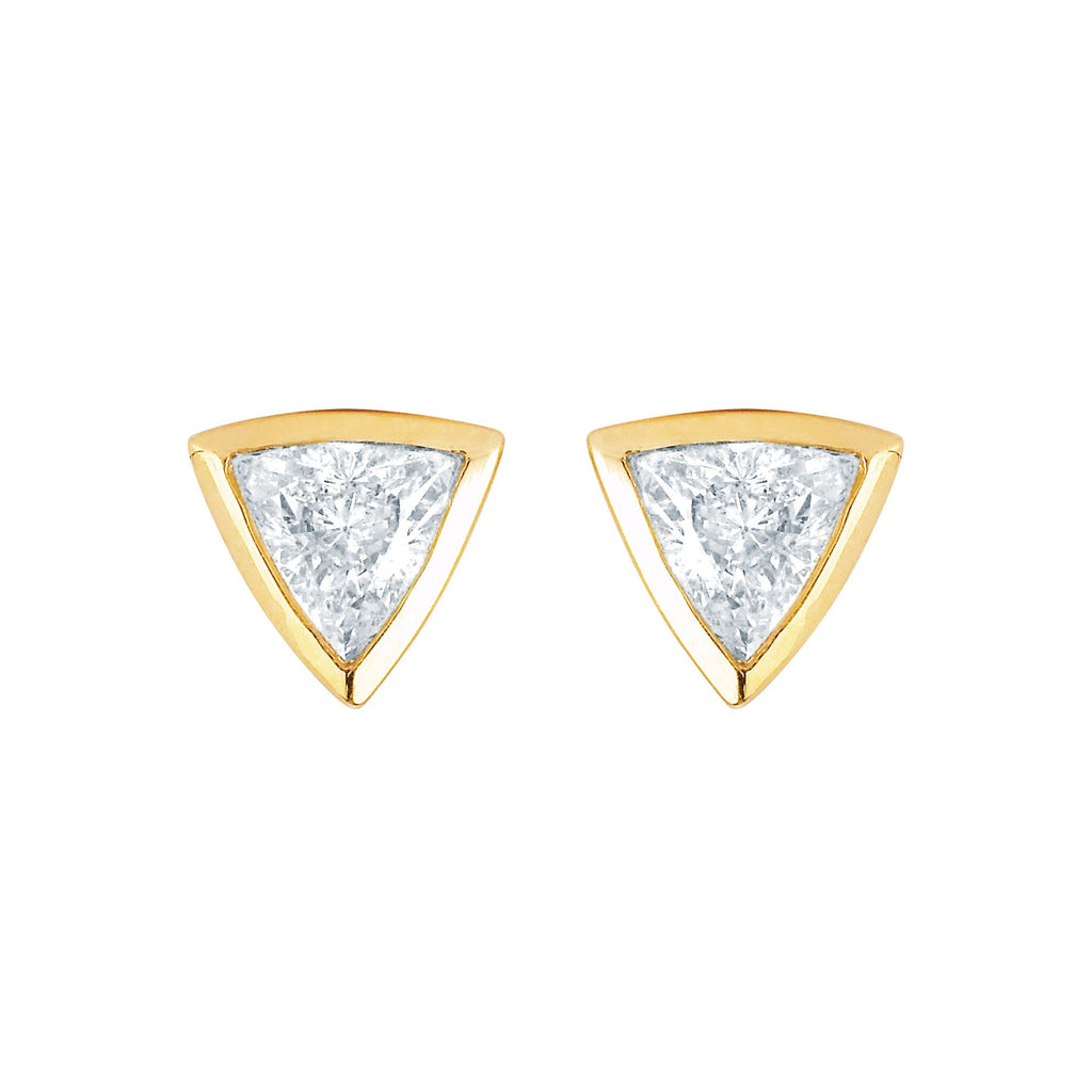 Papa Trillion Stud Earring Yellow Gold