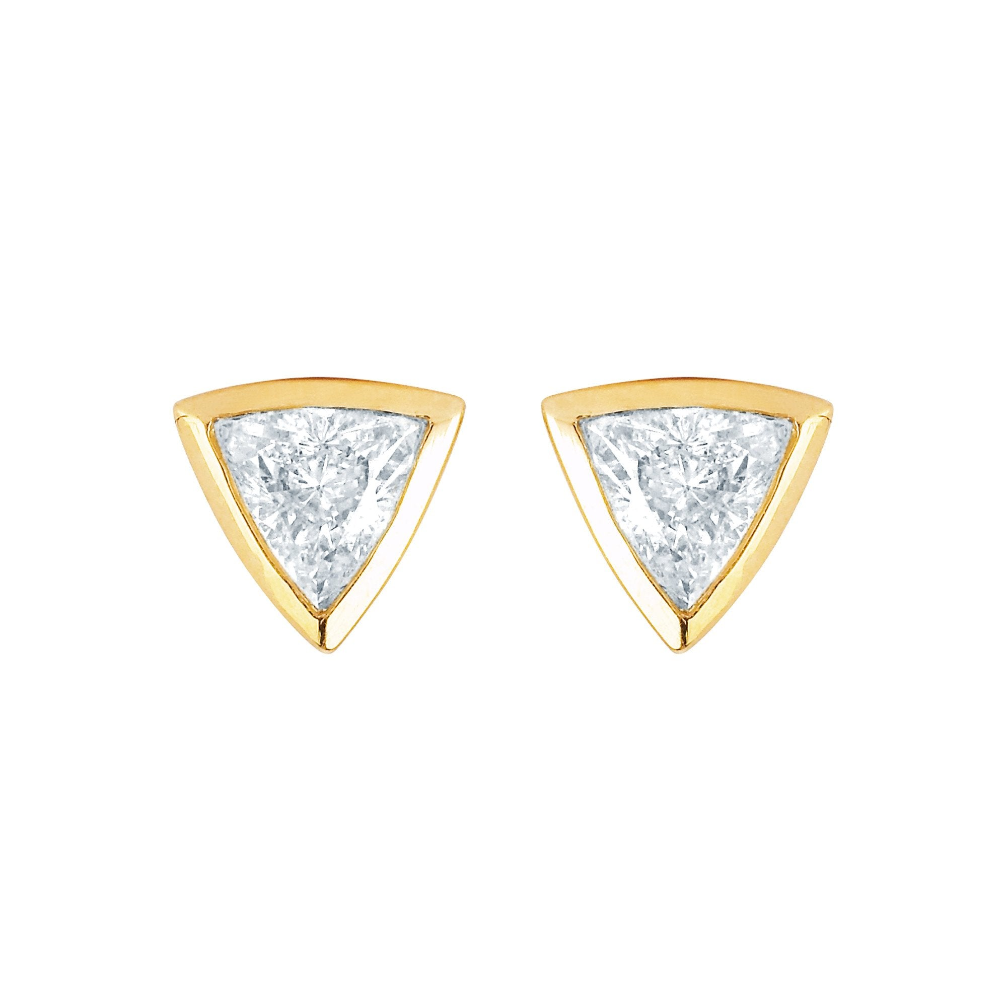 with diamond earrings white aquamarine cut elegant diamonds of gold trillion in