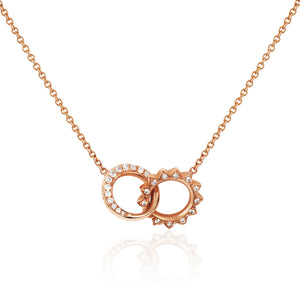 Pavé Diamond Interlocking Unity Necklace