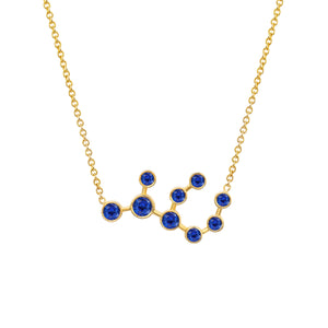 NEW! Virgo Sapphire Constellation Necklace