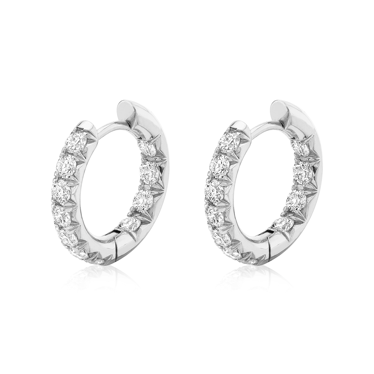 NEW! Inside Out French Pavé Diamond Hoops
