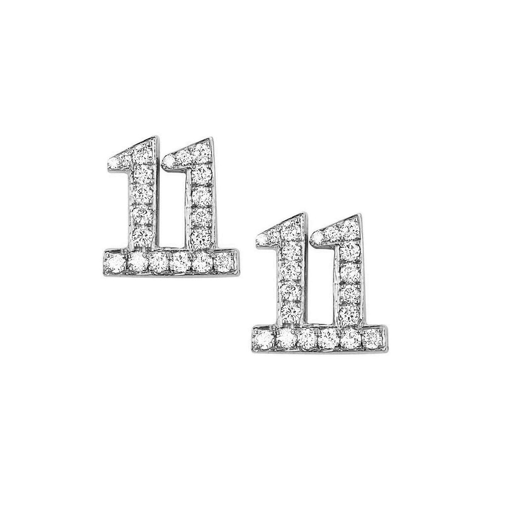 11:11 Studs with Pavé Diamonds 11:11 Studs with Pavé Diamonds