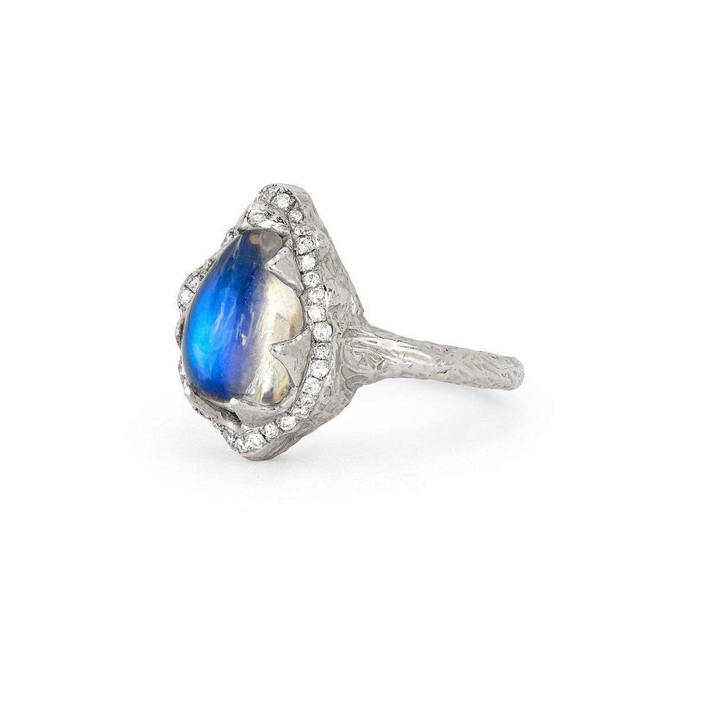 Baby Queen Blue Moonstone Sheen Ring Baby Queen Blue Moonstone Sheen Ring