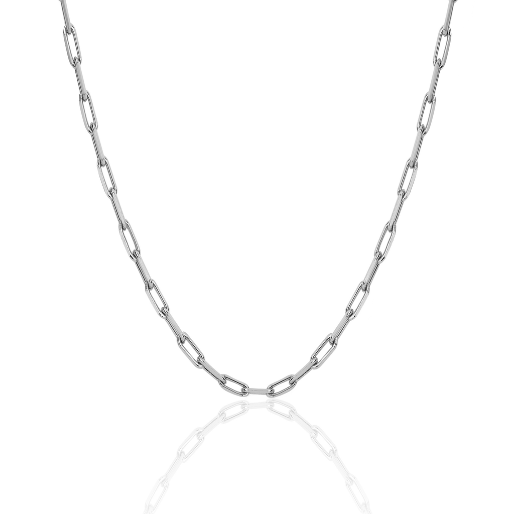 Alchemy Link Necklace White Gold