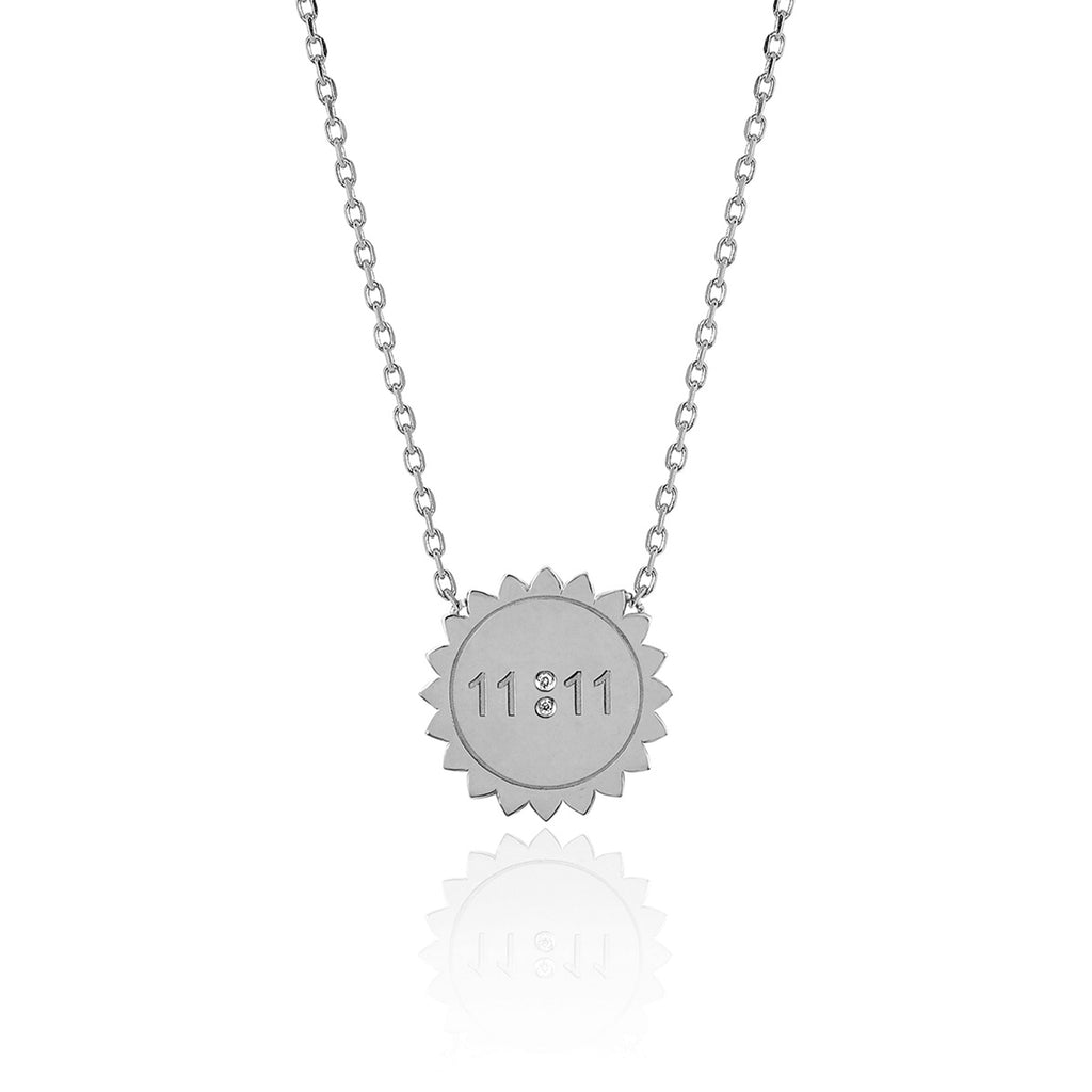 Mini 11:11 Sunshine Necklace White Gold