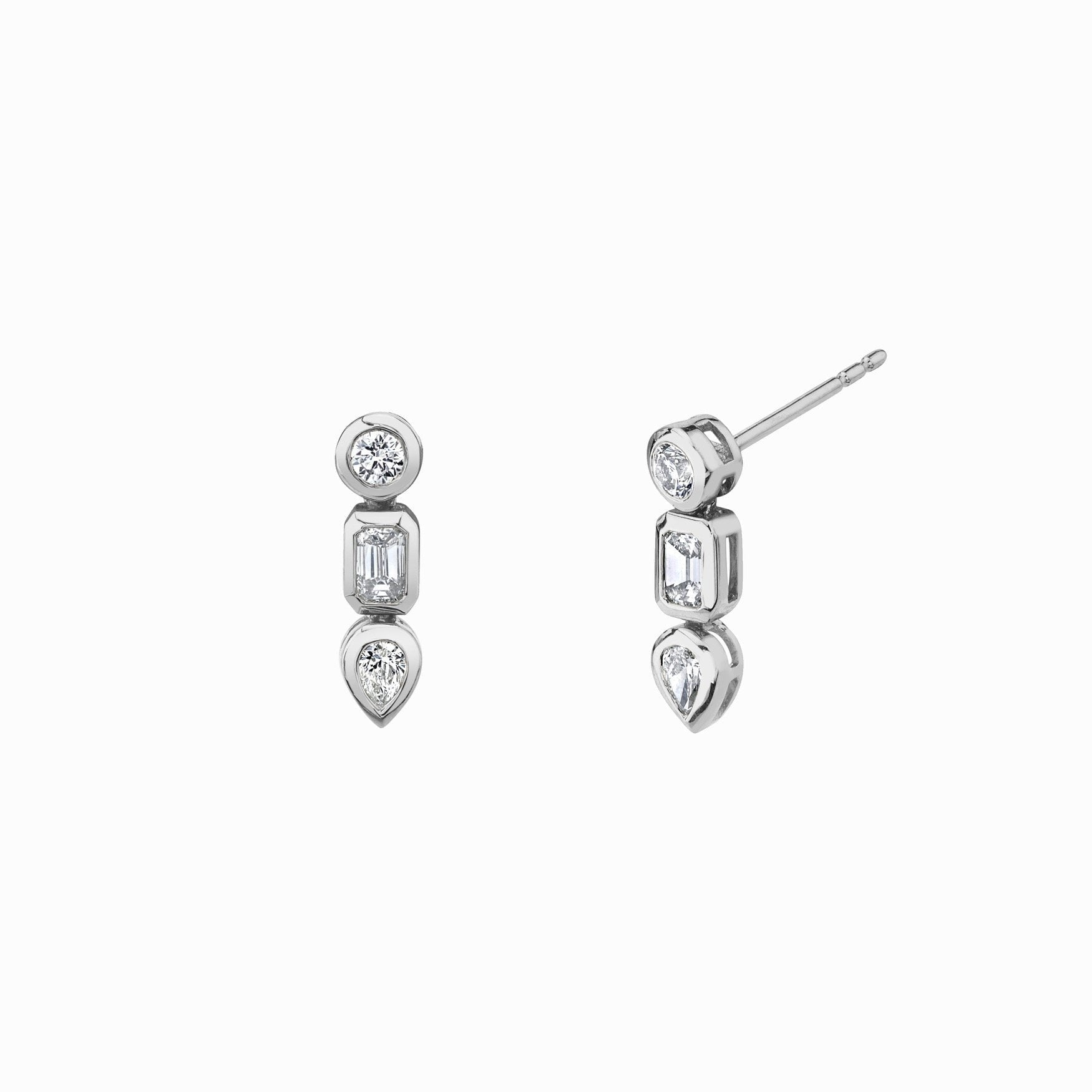 NEW! Baby Multi Shape Diamond Drop Earrings