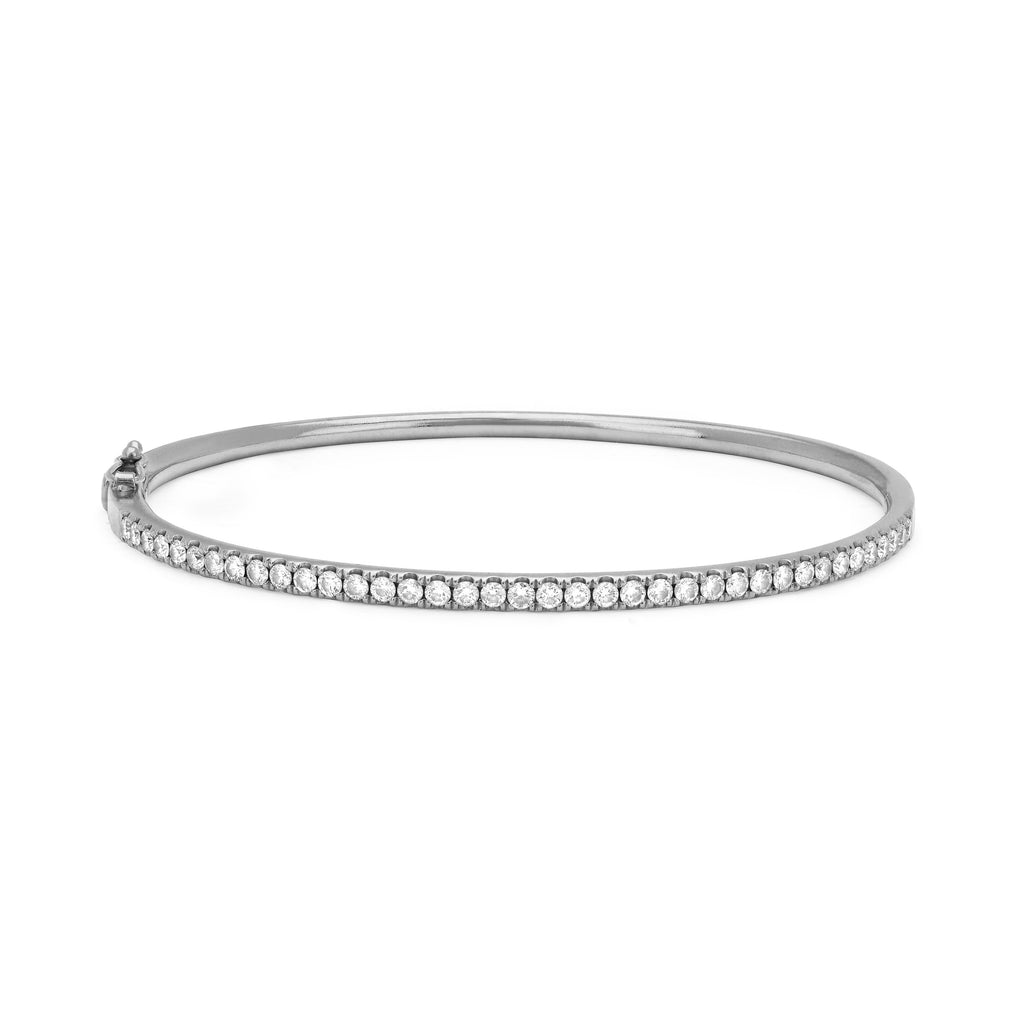 38 Diamond Bangle White Gold