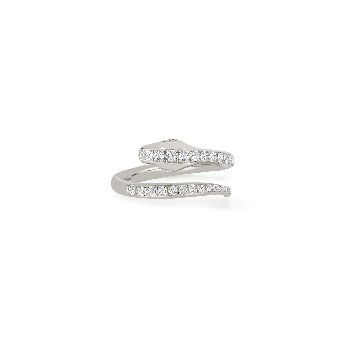Kundalini Single Row Diamond Snake Coil Ring