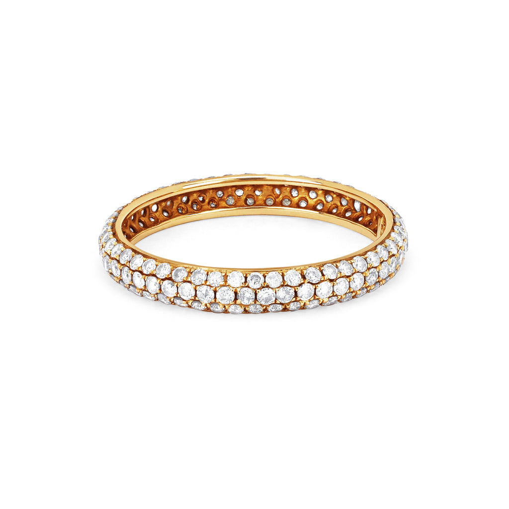Pavé Infinity Band Yellow Gold