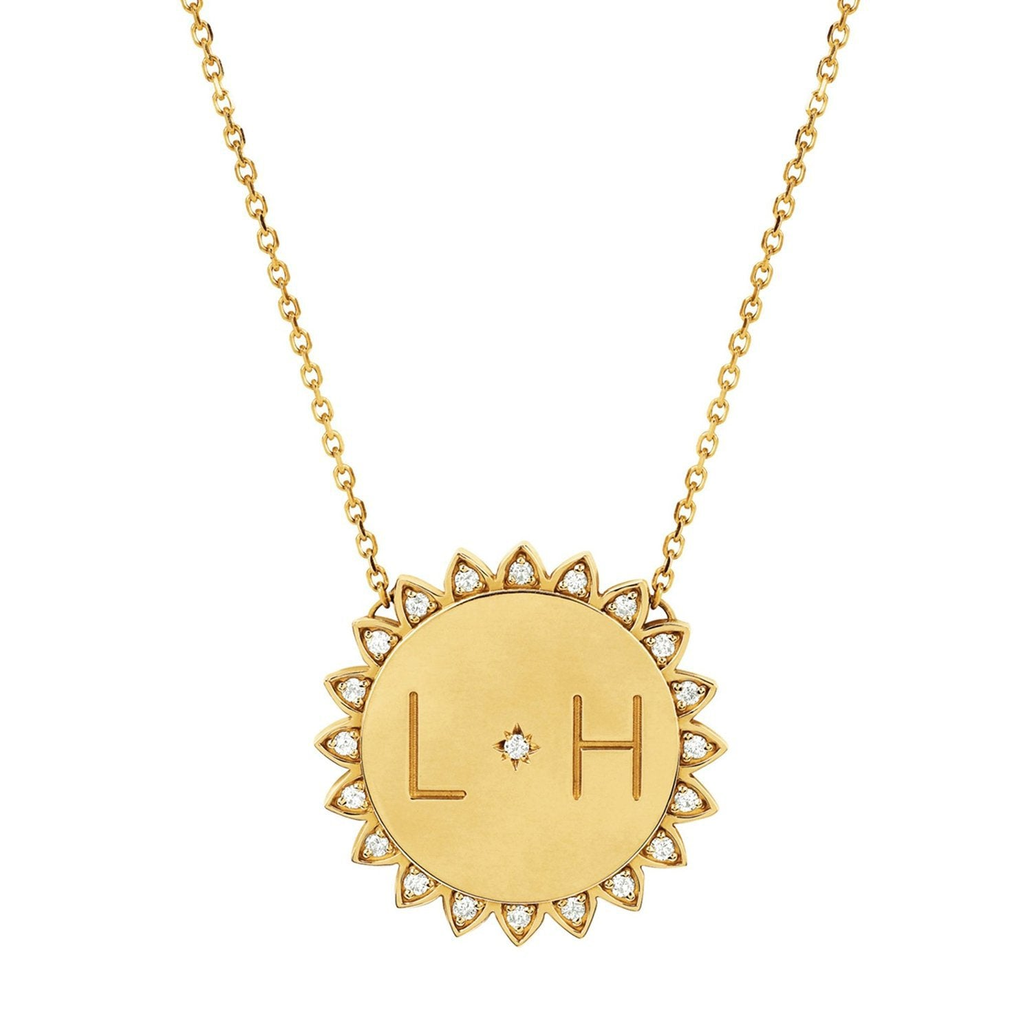 "Custom Classic ""You Are My Sunshine"" Necklace with Star Set Diamond"