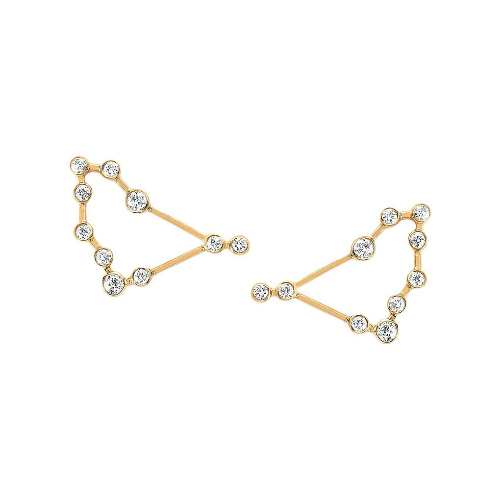 Capricorn Diamond Constellation Studs Capricorn Diamond Constellation Studs