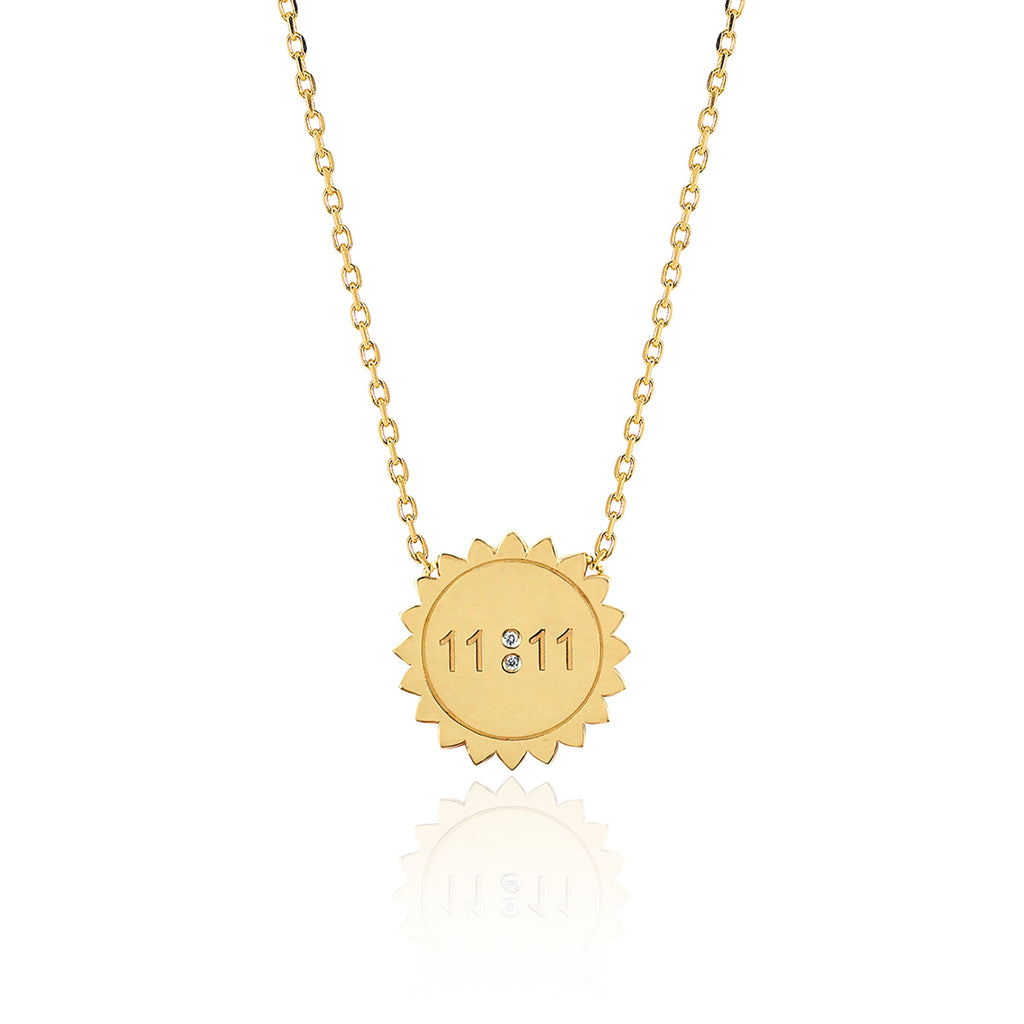 Mini 11:11 Sunshine Necklace Yellow Gold