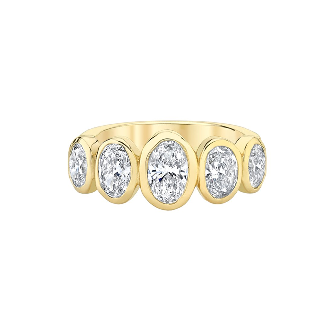 NEW! Graduated Oval Diamond Band