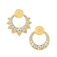 Unity Pavé Diamond Sun & Moon Ear Jackets Unity Pavé Diamond Sun & Moon Ear Jackets