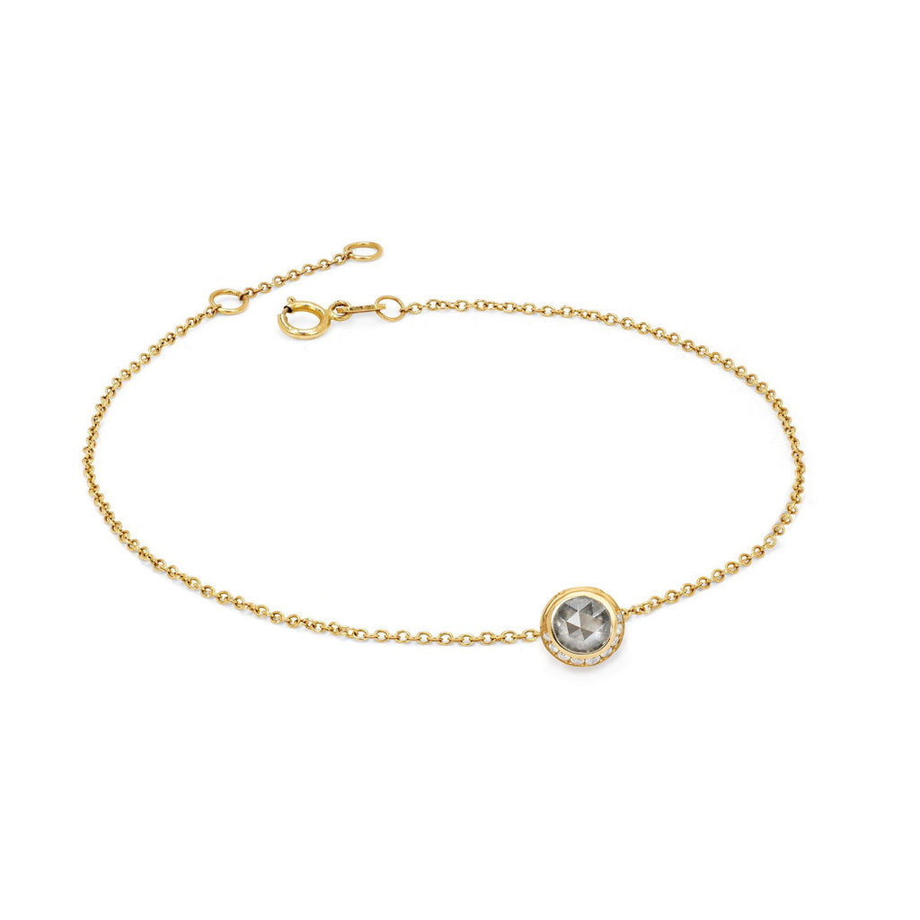 Silver Moon Bracelet Yellow Gold