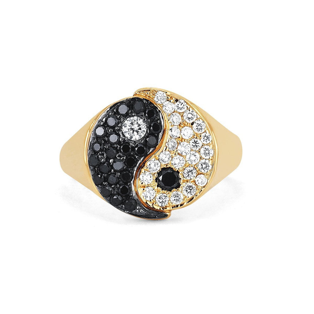 Yin Yang Ring Yellow Gold