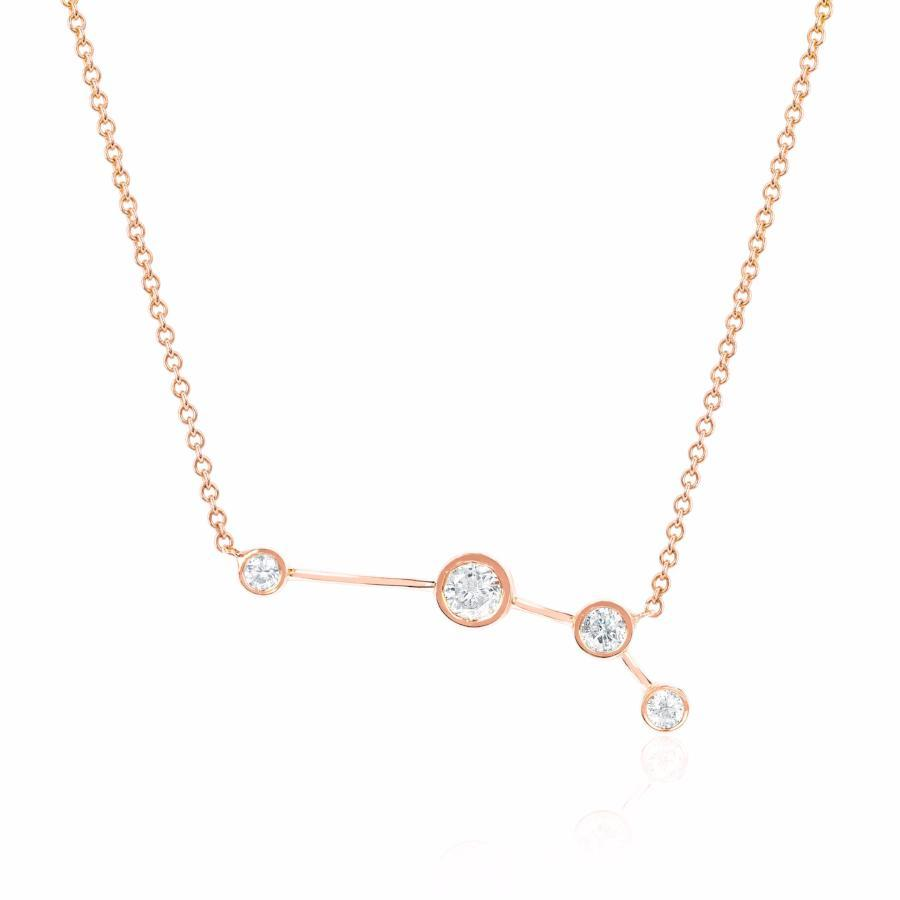 Aries Constellation Necklace Rose Gold