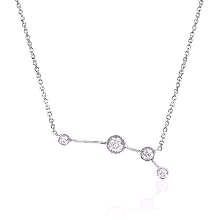 Aries Constellation Necklace White Gold