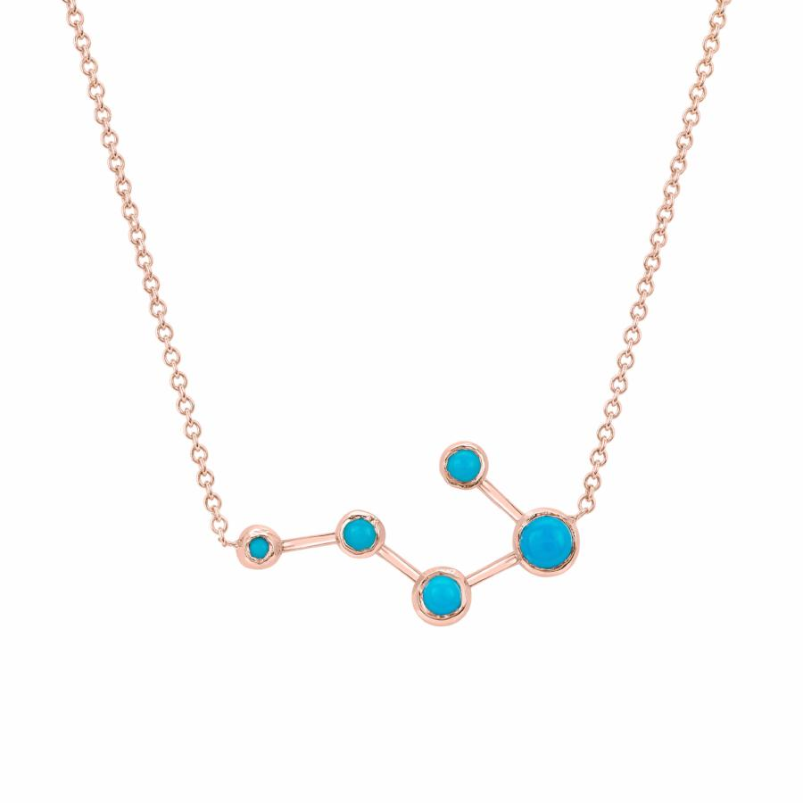 Big Dipper Turquoise Constellation Necklace Rose Gold